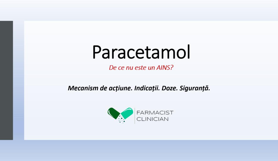 De ce nu este Paracetamolul un AINS?