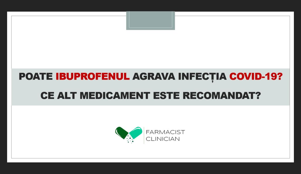 Ibuprofenul și infecția COVID-19