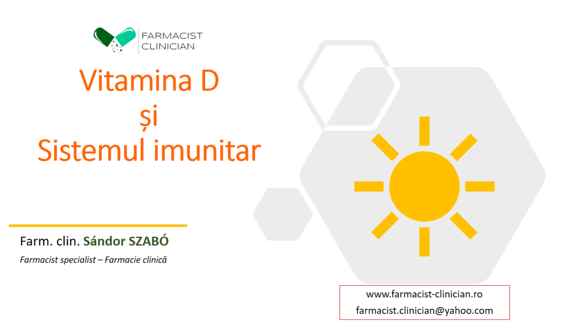Vitamina D și sistemul imunitar – VIDEO